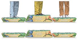 RIO 2016: Olympic medals podium infographic