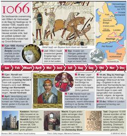 GESCHIEDENIS: Slag bij Hastings 950 jaar geleden infographic