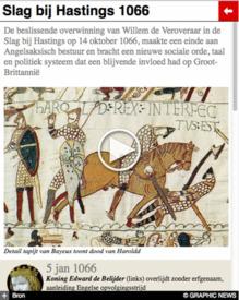 GESCHIEDENIS: Slag bij Hastings 950 jaar geleden interactive infographic