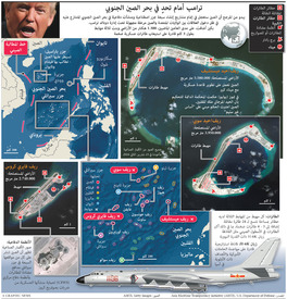ASIA: Trump faces South China Sea challenge infographic