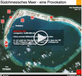 ASIEN: China entwickelt neue Inseln im Südchinesischem Meer infographic