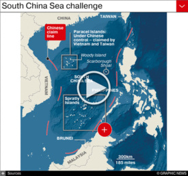 ASIA: China develops islands in South China Sea infographic