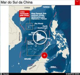 ÁSIA: China constrói em ilhotas no mar do Sul da China infographic