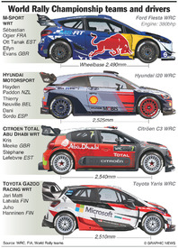 RALLY: WRC teams and drivers 2017 infographic