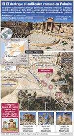 SIRIA: Anfiteatro de Palmira destruido infographic