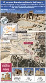 SYRIË: Amfitheater van Palmyra verwoest infographic