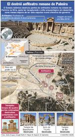 SÍRIA: Anfiteatro de Palmira destruído infographic