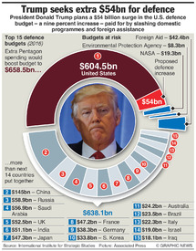 MILITARY: U.S. defence budget hike (1) infographic