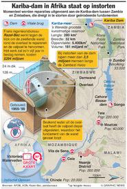 MILIEU: Kariba-dam in Afrika staat op instorten infographic