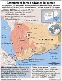 YEMEN: Government forces advance infographic
