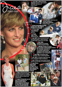 ROYALTY: Princess Diana 20 jaar herdacht infographic