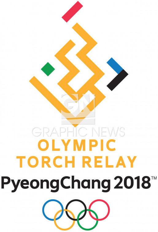 Emblem Olympic Torch Relay  infographic