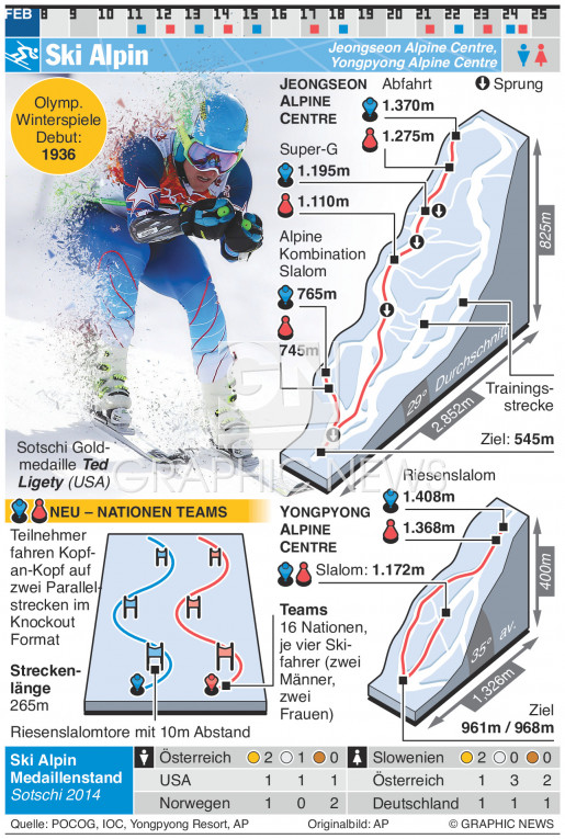 Ski Alpin infographic