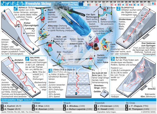 Freestyle Skiing infographic