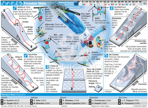 Freestyle Skiën infographic