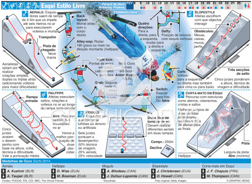 Esqui Estilo Livre infographic