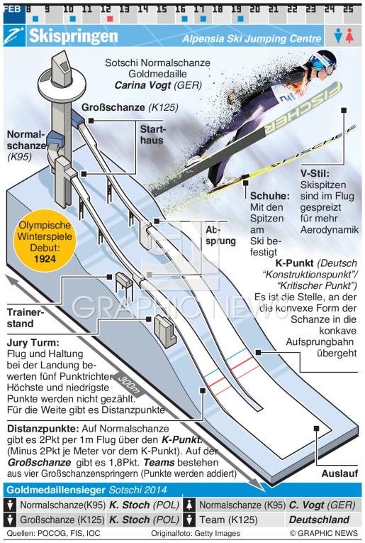 Skispringen infographic