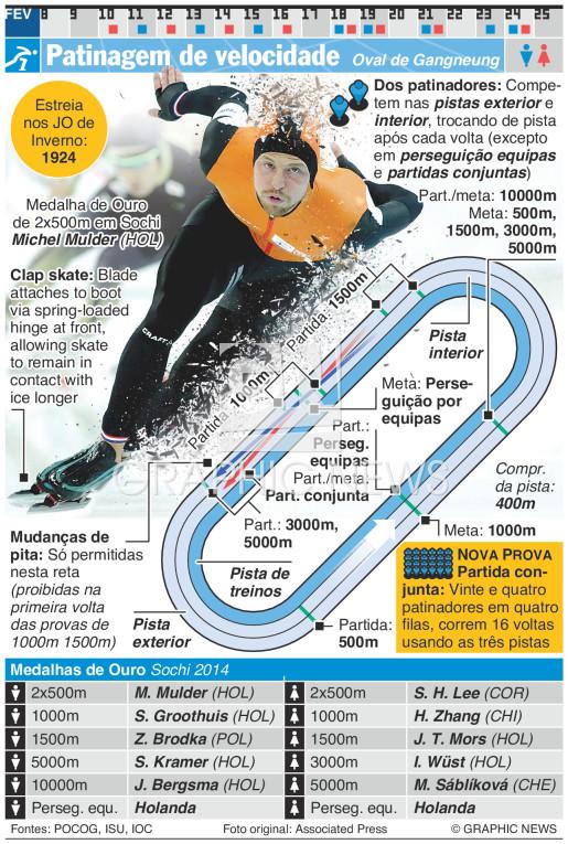 Patinagem de velocidade infographic