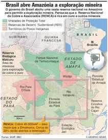 BRASIL: Reserva RENCA na Amazónia infographic