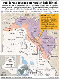 IRAQ: Advance on Kurdish-held Kirkuk infographic