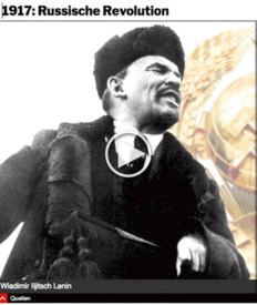 GESCHICHTE: RUSSISCHE REVOLUTION 100. Jahrestag  interactive infographic