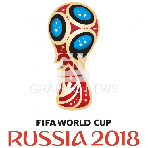 World Cup Russia 2018 logo infographic