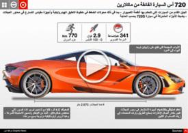 سيارات: سيارة ماكلارين الفائقة ٧٢٠ أس infographic