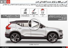 سيارات: فولفو سي أمس ٤٠ - رسم تفاعلي infographic