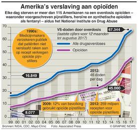 GEZONDHEID: Amerika's verslaving aan opioïden infographic