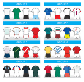 World Cup 2018 team away kit icons infographic