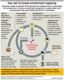 IRAN: Nuclear fuel cycle infographic