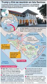 POLÍTICA: La cumbre Trump-Kim se realizará en isla Sentosa infographic