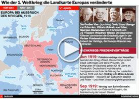 GESCHICHTE: Wie der WK1 die Landkarte Europas veränderte interactive infographic