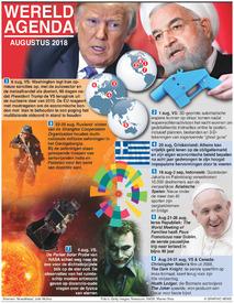 WERELD AGENDA: Augustus 2018 infographic