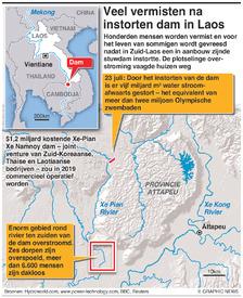 RAMPEN:Dam in Laos ingestort infographic