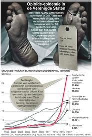 GEZONDHEID: Opioïde-epidemie in VS infographic