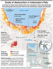 EARTHQUAKE: Palu damage assessment infographic