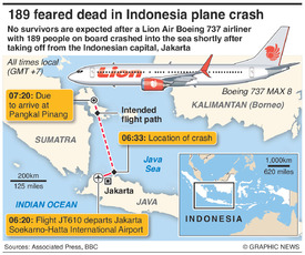 INDONESIA: Lion Air plane crash infographic