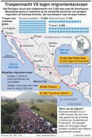 LATIJNS-AMERIKA: Troepenmacht VS tegen migrantenkaravaan infographic