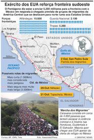 AMÉRICA LATINA: Tropas dos EUA reforçam fronteira com o México infographic