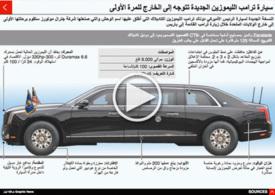 سيارات: سيارة دونالد ترامب الليموزين الجديدة infographic