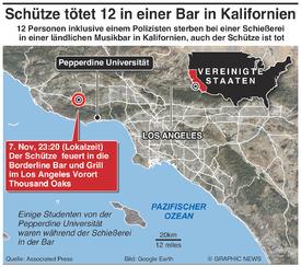 KRIMINALITÄT: Schiesserei in einer Bar in Kalifornien infographic