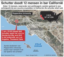 MISDAAD: Schietpartij in bar Californië infographic