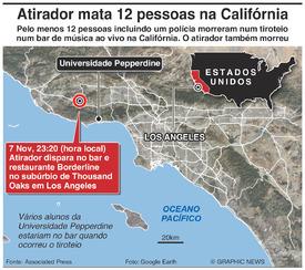 CRIME: Tiroteio em bar da Califórnia infographic