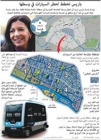 مواصلات: باريس تخطط لحظر السيارات في وسطها infographic