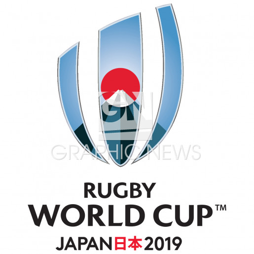 Rugby World Cup 2019 logo infographic