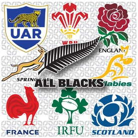 RUGBY: Rugby World Cup 2019 team crests (1) infographic