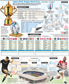 RUGBY: Rugby World Cup 2019 wallchart infographic