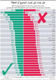 سياسة: هل بلدك على المسار الصحيح أو الخطأ infographic