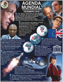 AGENDA MUNDIAL: Dezembro 2018 infographic
